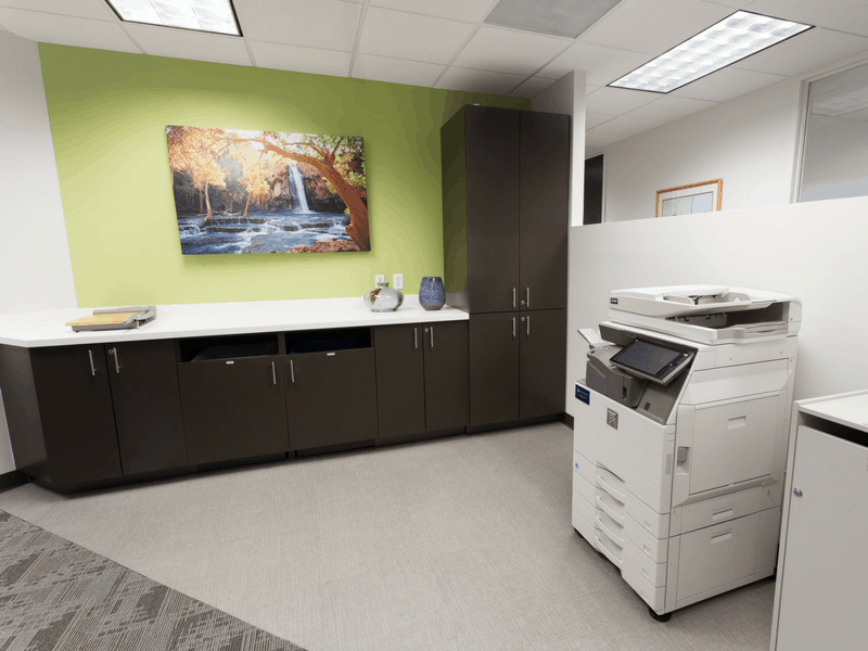 Amenities: Business center with multi-task copier and secure shredder.